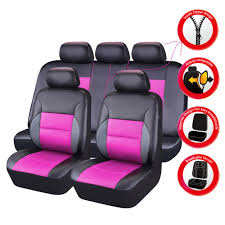 carpass 11pcsbreathable pu leather universal fit car suv truck car seat covers