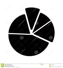 Pie Chart Diagram Vector Icon Black And White Graphic