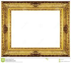 Gold Frame Border Clip Art Chipped vintage gold ornate frame