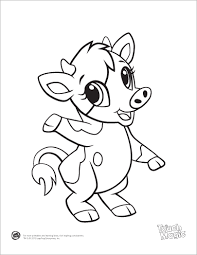 Small Picture Learning Friends Cow baby animal coloring printable from LeapFrog