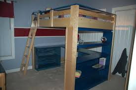 woodwork bunk beds stairs plans diy loft bed with and slide