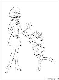 Mother Coloring Pages Mother Coloring Pages Printable I Love Mom