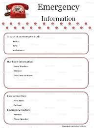 Babysitter Emergency Contact Sheet 4 Babysitter Information Template Contact Techshopsavings Info