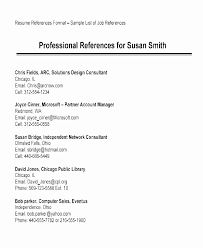 Reference List Resume Professional Reference List Template Word Fresh Example References A