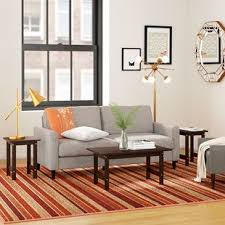 modern furniture living room wood. Everett 3 Piece Coffee Table Set Modern Furniture Living Room Wood