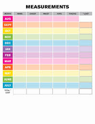 Weight Measurement Chart Printable Measurements For Weight Loss Chart Best Of Weight Loss