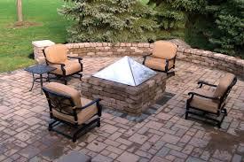 Small Picture SUNCRAFT Paver Patio with Fire Pit and Seat Wall Columbus
