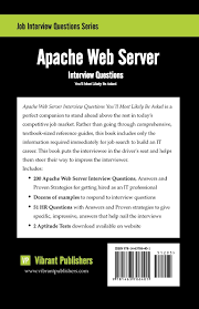 com apache web server interview questions you ll most com apache web server interview questions you ll most likely be asked 9781463706401 vibrant publishers books