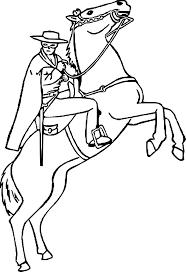 Coloriage Zorro Sur Un Cheval Imprimer