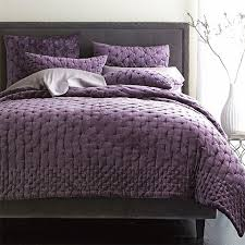 Luxury Solid Purple Pleuche 3pcs Quilted Patchwork Bedspreads ... & Luxury Solid Purple Pleuche 3pcs Quilted Patchwork Bedspreads,Nobel  Delicate Smooth Pleuche Coverlet Set in Full/Queen Size-in Bedding Sets  from Home ... Adamdwight.com