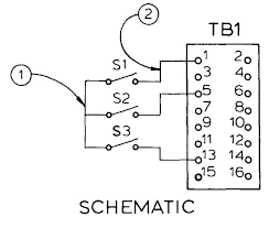 electronics drafting wiring diagrams a schematic being used to wire between components note 1 technician runs a wire connecting all switches note 2 wire is run from s1 to tb1 1 the