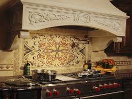 rustic mosaic tile kitchen backsplash