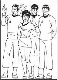 Star Trek Group Coloring Picture For Kids Star Trek Pinterest