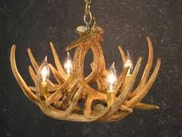 4 light whitetail antler chandelier