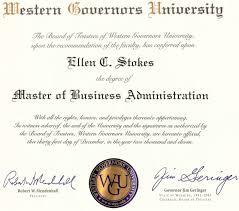 mba diploma wgu mba diploma