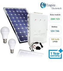 Solar Home Light Set S H Enterprise Solar Home Lighting System 2 Dc Bulb And