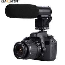 K & F KONSEPT Profesyonel DSLR Kamera Mikrofon Görüşme El Kablolu Mikrofon  Nikon Canon Için Kayıt Video Stüdyo Kamera Kategoride Canlı Ekipmanları -  Primeinsider.news