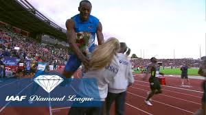 When Usain Bolt crashed into a <b>flower girl</b> in Oslo in 2012 ...