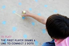 Coloring4all has 20 connect the dots online games that vary in skill level. Sidewalk Chalk Games For Kids Dots And Boxes Make And Takes
