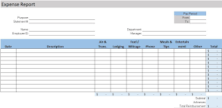 Expense Statement Template Free Accounting Templates In Excel