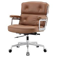 modern office chair leather. Lyndon Office Chair Light Brown Aniline Leather Modern