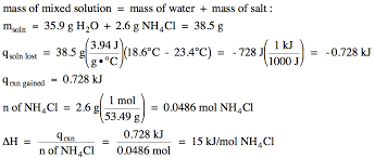 for neutralization reactions between an aqueous acid and an aqueous metal hydroxide the process of determining h by calorimetry is similar to that used