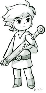 Toon Link Coloring Pages Link Wind By On Skyward Sword Coloring