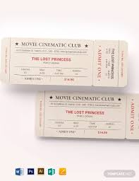 29 Best Movie Ticket Examples Psd Ai Examples