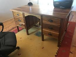 office desk wood. Solid 6 Drawer Kiaat Office Desk For Sale Wood E