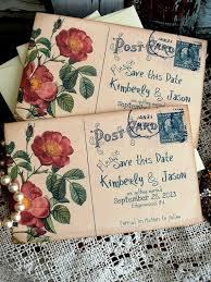 best 25 handmade wedding invitations ideas on pinterest Handmade Wedding Invitations Ideas And Tips vintage postcard wedding save the date cards by avintageobsession Homemade Wedding Invitations