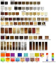 Ion Hair Dye Color Chart Ion Hair Colors Chart Davines Hair Colour Chart Goldwell
