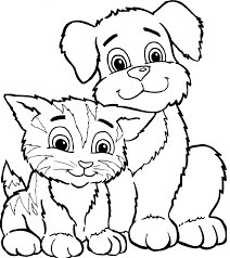 Drawing Dogs And Cats Coloring Pages 17 With Additional Free