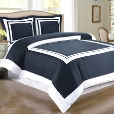 navy white hotel twin xl duvet style comforter set cotton