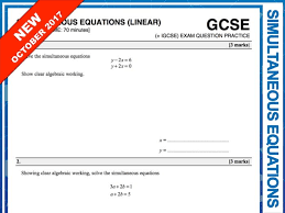 gcse 9 1 exam question practice simultaneous equations by maths4everyone teaching resources tes