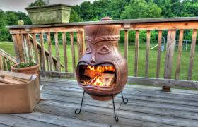 gas chiminea outdoor fireplace home design ideas inside large clay chiminea outdoor fireplace