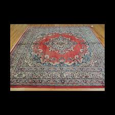 antique square persian hamadan wool oriental area rug 8x8