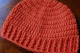 Mens Ribbed Crochet Hat Pattern