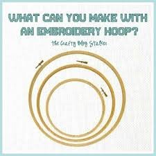 what can you make with an embroidery hoop