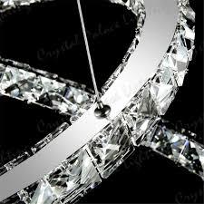 crystal pendant lighting. 3 Ring LED Modern Crystal Chandelier Ceiling Pendant Lighting G