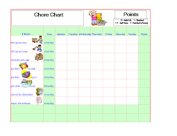 Make A Chore Chart Template Chore Chart Template In Excel Templates At