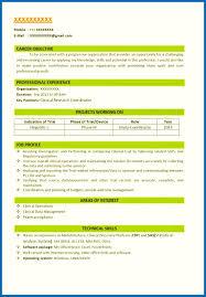 Bsc Resume Sample Format Of Resume For Job For Fresher Bsc Fresher Resume Sample 33