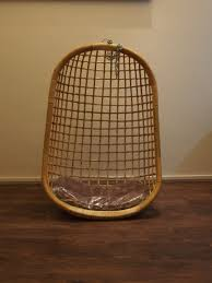 White Hanging Chair with Cushion