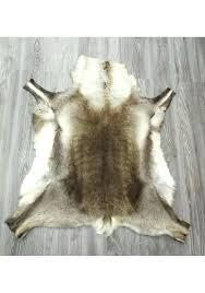 real deer skin rug deer hide rug real reindeer deer hide area rug carpet deer hide