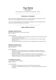 Resume Personal Statement Examples Free Resume Example And
