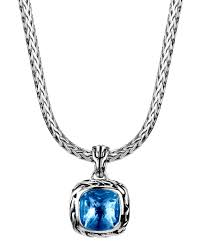 lyst john hardy batu classic chain london blue topaz pendant jpg 1200x1500 topaz amulet men