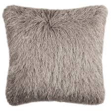 Safavieh 20-inch Shag Modish Metallic Metalic Silver Decorative Pillow -  Free Shipping On Orders Over $45 - Overstock.com - 20435960