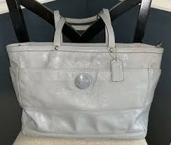 coach xl signature patent leather diaper baby bag f17940 free gift