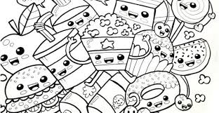 Coloring Pages Kawaii Food Coloring Pages Cute Of Ideal Print Girl