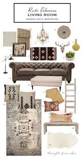 Living Room Furniture List How To Create A Rustic Bohemian Living Room Source List
