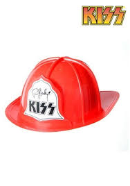 What I Want To Be For Halloween Pie Chart Red Plastic Kiss Fire Hat